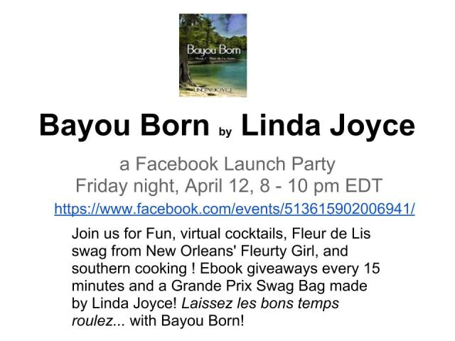 Bayou Born Invite- Friday April 12 8-10pmEDT